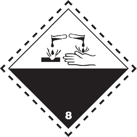 Značka Žíravé látky TŘ. 8 - magnetická folie