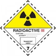 Značka Radioaktivní látky, značka 7C - magnetická folie