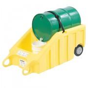 Vozík s pevnými gumovými koly na výdej kapalin