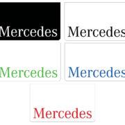 Zástěrka MERCEDES - 2ks - 60x35 cm