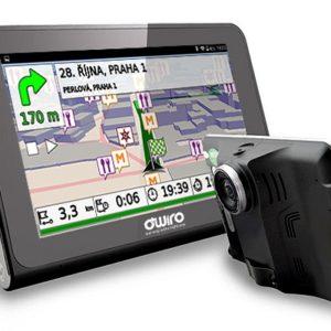 "GPS navigace OWIRO 7.0"" - kamera, wifi, detektor radaru (verze pro kamion)"