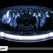 Světlomet / reflektor dálkový - Skyled Jumbo Ellipse BLACK - (modrý)