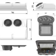 Klimatizace kompresorová do prašného prostředí 12V / 2000 W